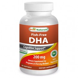 Best Naturals DHA Supplement 200 mg 60 Softgels
