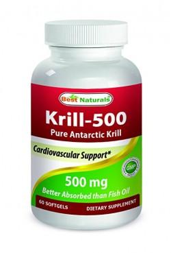 Best Naturals Krill Oil 500 mg 60 Softgels