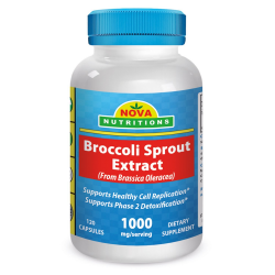 Nova Nutritions Broccoli Sprout Extract 1000mg/serving 120 Capsules