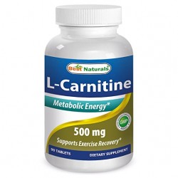 Best Naturals L-Carnitine 500 mg 90 Tablets