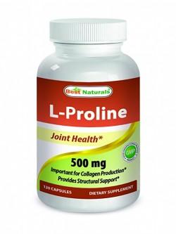 Best Naturals L-Proline 500 mg 120 Capsules