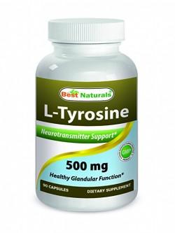 Best Naturals L-Tyrosine 500 mg 90 Capsules
