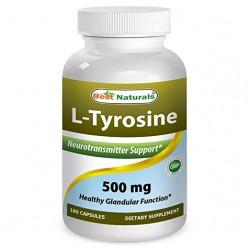 Best Naturals L-Tyrosine 500 mg 180 Capsules