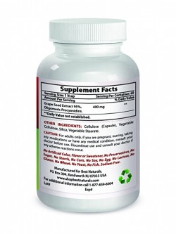 Best Naturals Grape Seed Extract 400 mg 60 Vcaps