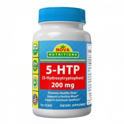 Nova Nutritions 5-HTP (5-Hydroxytryptophan) 200mg 120 vcaps