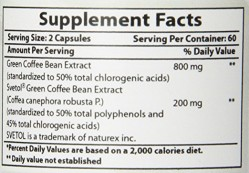 Best Naturals Green Coffee Bean with Svetol 120 Capsules