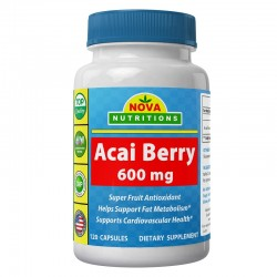 Nova Nutritions Acai Berry 600mg 120 capsules