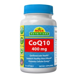 Nova Nutritions CoQ10 400mg 60 softgels