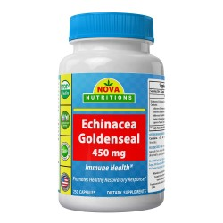 Nova Nutritions Echinacea Goldenseal 450 mg 250 capsules