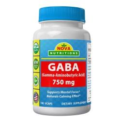 Nova Nutritions GABA Gamma-Aminobutyric Acid 100 VCAPS