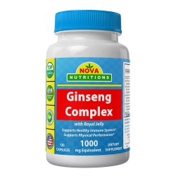 Nova Nutritions Ginseng Complex 1000mg 120 capsules