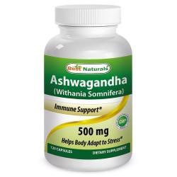 Best Naturals Ashwagandha 500mg 120 Capsules