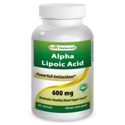 Best Naturals Alpha Lipoic Acid 600 mg 240 Capsules