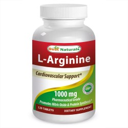 Best Naturals L-Arginine 1000mg 120 Tablets