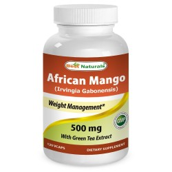 Best Naturals African Mango 500mg 120 Vcaps