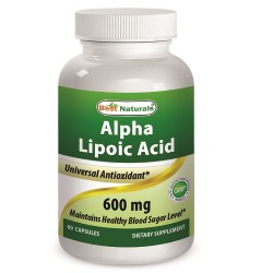 Best Naturals Alpha Lipoic Acid 600 mg 60 Capsules