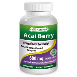 Best Naturals Acai Berry Extract 600 mg 60 Capsules