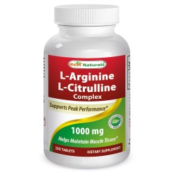 Best Naturals L-Arginine L-Citrulline Complex 1000 mg 250 Tablets