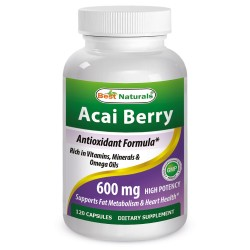 Best Naturals Acai Berry Extract 600 mg 120 Capsules