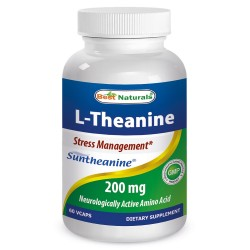 Best Naturals L-Theanine 200 mg 60 Vcaps