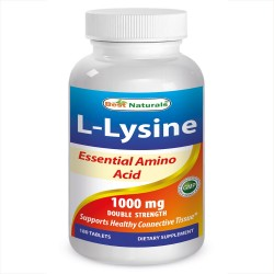 Best Naturals L-Lysine 1000 mg 180 Tablets